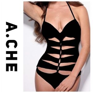 💕SALE💕A.Che Black Cutout Sexy One Piece Swimsuit